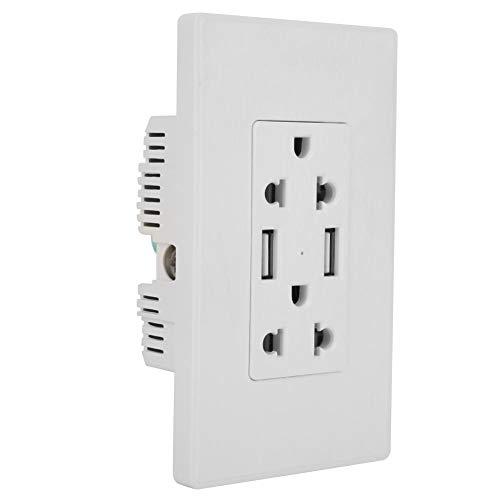 USB 2.1A 125V 15A Wandsteckdose, automatische intelligente Wandsteckdose, für den gewerblichen Heimgebrauch(7 pieces)
