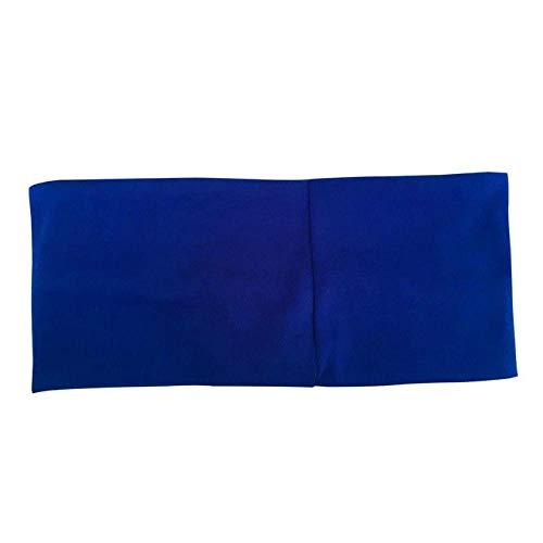 ZWRY Diademas Diadema elástica Deportiva Accesorio de Yoga Danza Biker Diadema Ancha Banda para el Sudor Cinta elástica para Gimnasio Cinta para el Cabello Azul