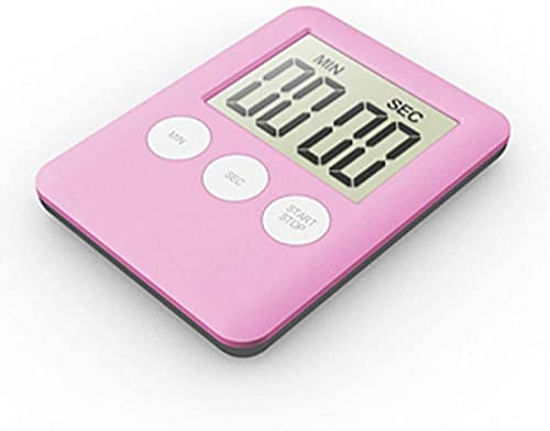 XQMY Temporizador de Cocina Magnético LCD Pantalla Digital A Prueba de Agua Baño Ducha Temporizador Reloj de Pared Herramientas-Amarillo para cocinar y Hornear (Color: Amarillo)