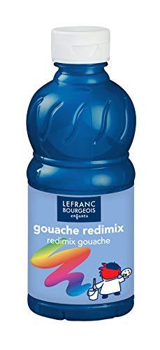 Lefranc Bourgeois - Gouache liquide Redimix pour enfants - Bouteille 250ml - Bleu primaire