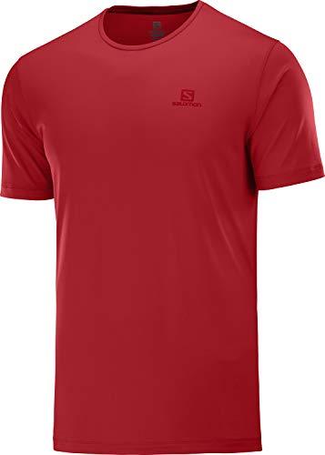 SALOMON Agile Training tee M Camiseta de Manga Corta, Hombre, Rojo (Goji Berry)