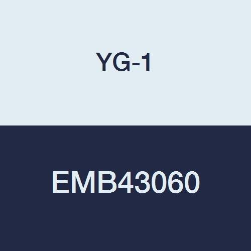 YG-1 EMB43060 6.0 mm Carbide V7 Mill INOX Corner Radius End Mill, 4 Flute, Short Length, 54 mm Length