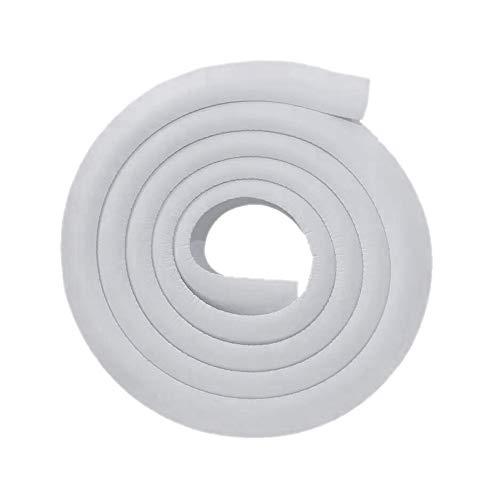 Eckenschutz für Kinder, 2 m L-Form, Sicherheitsstreifen, Tischkantenschutz, Babysicherung, dicke weiche Kanten, Kissenschutz, ungiftiges Gummi mit 4M-Klebeaufklebern (grau)