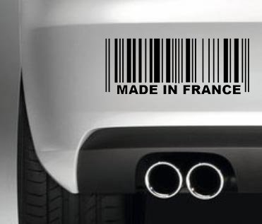 South Coast Stickers Made In France Barcode STICKER FUNNY BUMPER STICKER CAR VAN 4X4 WINDOW PAINTWORK DECAL EURO LAPTOP DRIVE