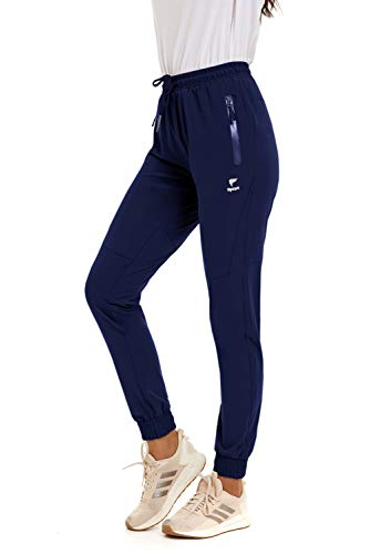 NEYOUQE active wear women's fashion overalls joggers loose dress pants elastic waist for work women trousers womens jogger not pant track yoga striped slim sweat suit fit sweatpants track pants Navy S