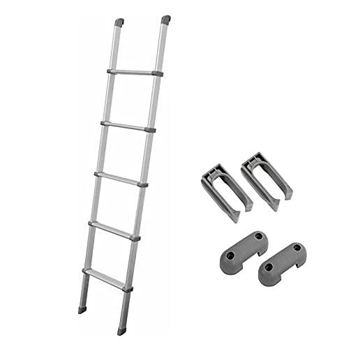 LFF-Trittleiter Escalera de Mano Escalera de Cama Multiusos, Escalera para Litera Alurminum con Accesorios de Montaje, Escalera Tipo Loft de 5 Escalones para Casa Pequeña y Dormitorio, Carga 150 Kg
