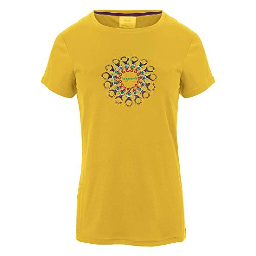 Trangoworld Orles T-Shirt pour Femme L Jaune Moutarde