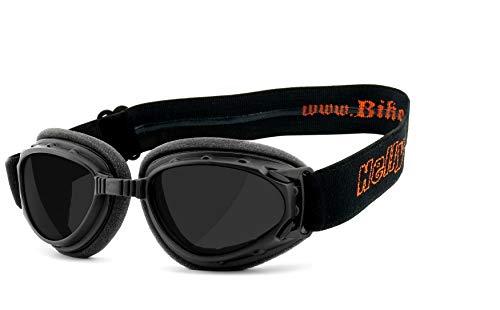 HELLY® - No.1 Bikereyes® | Motorradbrille, Bikerbrille | winddicht, gepolstert, beschlagfrei, HLT® Sicherheitsglas nach DIN EN 166 | TOP Tragegefühl bei langen Ausfahrten | Motorradbrille: 1331b-a