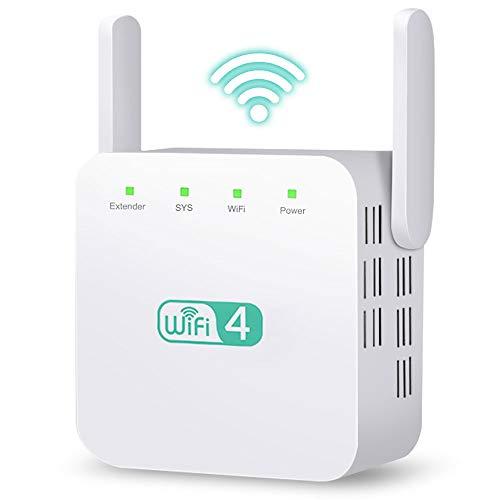Ohiyoo Ripetitore WiFi WirelessVelocità Single Band 300Mbps/2.4GHz WiFi Extender e Access Point,Porta LAN Ripetitore Segnale WiFi Casa WiFi Amplificatore Compatibile con Tutti i Modem Router.