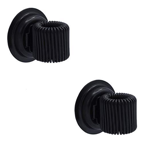 WANDLER® by Infinity Boxes Magnet-Set 2-tlg, magnetischer Stifthalter, schwarz, 2 Stück, rund, Ø 2 cm