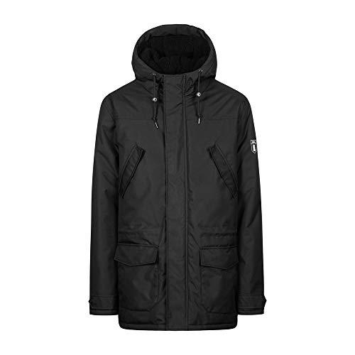 derbe Festland Parka Mono Black - Mantel, Größe_Bekleidung:L, Farbe:Black