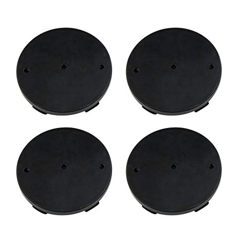 Black 60mm Car Wheel Tyre Tire Rim Center Hub Caps Cover Protector 4pcs