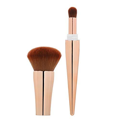 Liukouu Pinceau Fard à Joues, Pinceau de Maquillage, Pinceau cosmétique Multifonctionnel, Portable pour la Maison pour Artiste(Golden)
