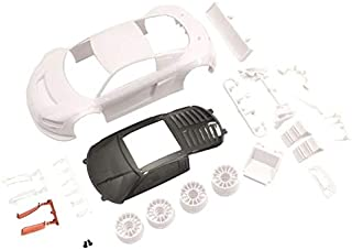 Kyosho Mini Z mzn195 Audi R8LMS Night-R WhiteBodySet w/Wheel