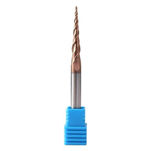 1 Stück konischer Kegelkopf Kugelnase Schaftfräser HRC60 CNC Kegelfräser Holz Metall Cutter Wolframkarbid konisch Fräser 4 mm (Größe: R0,25 x 20,5 x D4 x 50 l)