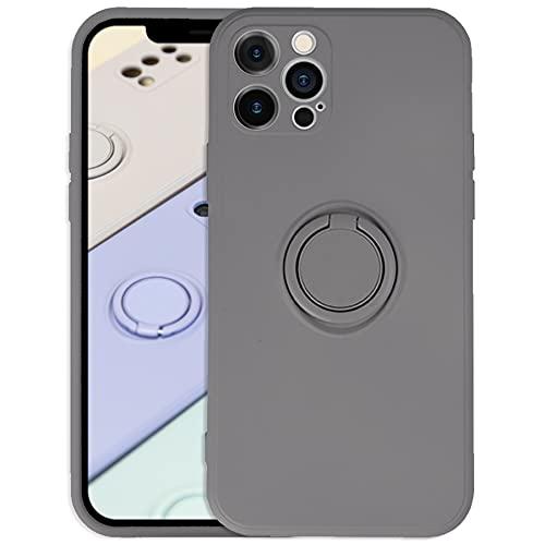 mtb more energy Custodia in silicone ad anello compatibile con Apple iPhone 13 Pro (6.1'') – grigio chiaro – Ultra Silk Touch – gommato – Custodia protettiva in silicone liquido