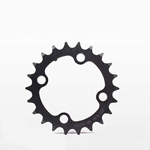 Alician 22T 32T 42T Rennrad Kurbelgarnitur Disc 8/9/24/27S Fahrrad Kettenrad Fixed Gear Parts Chainwheel MTB Kettenblatt Ritzel, 22t Schwarz