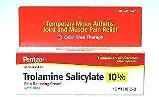 Perrigo Trolamine Salicylate 10% Pain Relieving Cream with Aloe, 3 oz