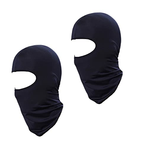 2 Pieces Balaclava Face Mask Cooling Face Cover Sun Hood UV Protection for Men Women Kids Lightweight Dustproof Fishing Motorcycle Running Cycling (Navy Blue)