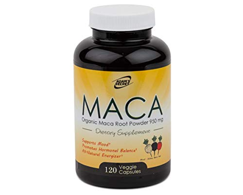 Organic Maca Root Black, Red, Yellow 1900 MG per Serving | Superfood Maca Root is an Excellent Supplement for Men and Women, Natural Energizer, Improves Vigor & Focus| 100% Pure Non-GMO | 120 Capsules