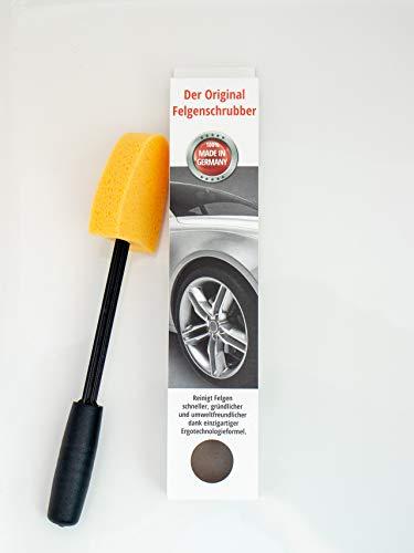 Felgenbürste Felgenschrubber lang für Alufelgen - schnelle Felgen-Reinigung bis in das Felgentiefbett auch ohne  Felgenreiniger