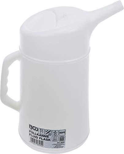 BGS 8569 | Füllkanne | 5 l | säure-, öl- und laugenbeständig | Messbecher | Ölkanne