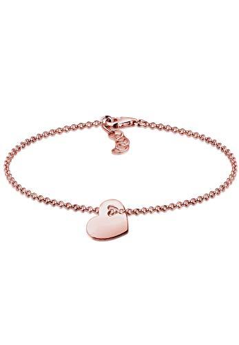 Elli Armband Elli Damen Armband mit Herz Symbol Liebe Cut-Out in 925 Sterling Silber