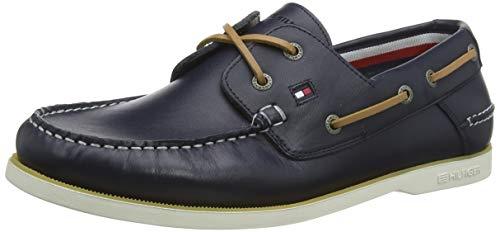 Tommy Hilfiger Herren Classic Leather Boatshoe Mokassin, Blau (Desert Sky Dw5), 44 EU