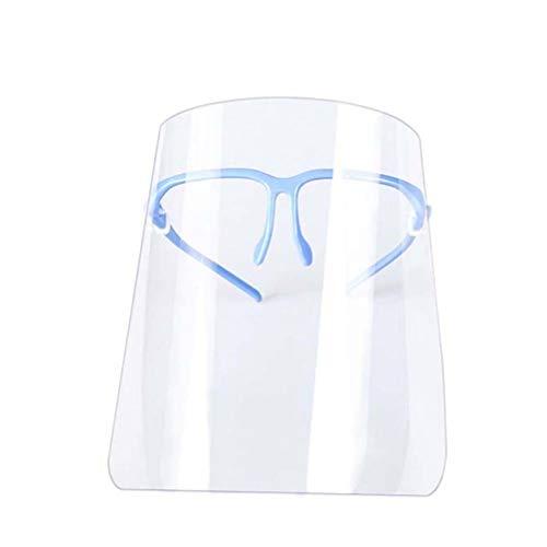 Artibetter 4 Stücke Gesichtsschutz mit Visier Schutzhelm Klar Schutzbrille Gesichtsschutzschild Gesichtsschutzschirm Gesichtsschild Helm für Ärzte Sicherheit Outdoor Arbeit Küche - Blau