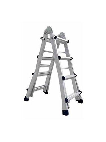 Escalera de aluminio multiusos Codiven 4x4 8+8 escalones