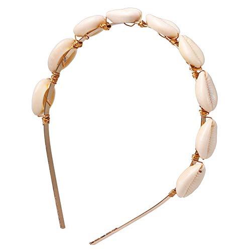 XdiseD9Xsmao Elegante duurzame Boho Kauri-schelp-kleurrijke steenhaarband, lichte zomer-strand-hoofdband hoofddek-vrouwen-meisjes 1#