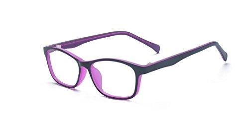 ALWAYSUV Computerbrille Blaulichtblockierung für Kinder Jungen Mädchen Teenager Kinder Gaming Brillen Reduzieren Sie die Brille der Augen Lila