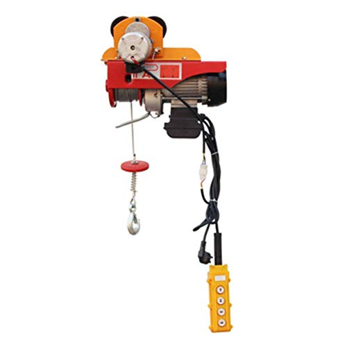 NEWTRY Mini Electric Hoist Conjoined 110V Overhead Lift Electric Winch Cable Control Single Hook with 4 Roller (PA200)