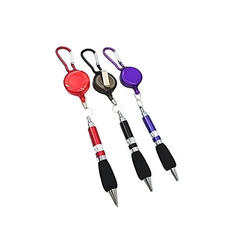 U-K Pinza para cinturón y mosquetón Negro retráctil para Carrete con insigniaÚtil y Atractivo