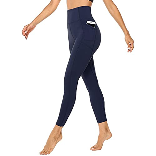 QTJY Pantalones de Yoga sin Costuras Mallas Deportivas de Alta Elasticidad para Mujer, Mallas de Entrenamiento de Gimnasio de Cintura Alta, Mallas Ajustadas para Correr Am