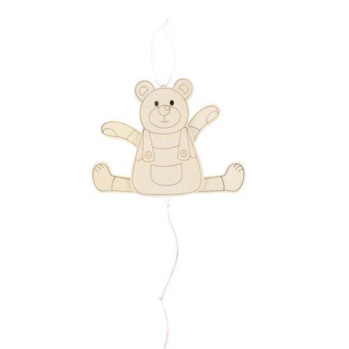 Hampelmann Bär, zum Selbstgestalten - Gliederpuppe Marionette Ziehfigur
