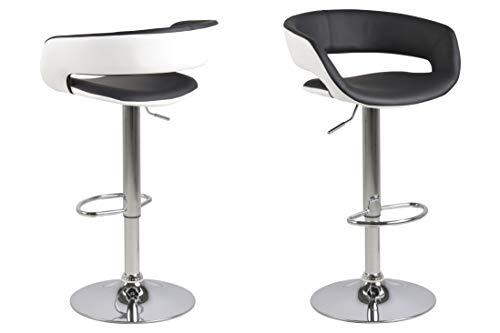 AC Design Furniture 58026 Jack Esszimmerstuhl,PU,Weiss/Antracite,H: 104 x B: 54,5 x T: 48,5 cm