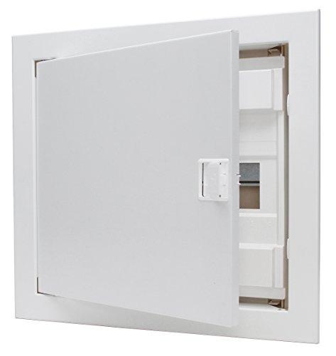 Kopp 340511000 Unterputz & Hohlwand-Verteilerkasten mit Metalltür 1-reihig für 12 Pole, weiß