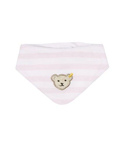 Steiff Unisex - Baby Halstuch Nickytuch, Gestreift, Gr. 32 (Herstellergröße: I), Rosa (Barely Pink 2560)