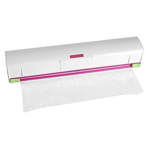 Cortador de envoltura de plástico - Dispensador de envoltura de alimentos Wraptastic Dispensador de frescura de alimentos Película conservadora Desenrollado Lámina de corte y papel de cera Envoltura a