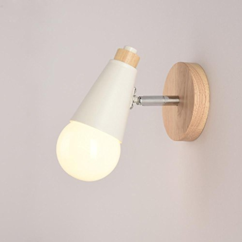 TAI2 Lampada da Parete nordica Creativa Seeksung Lampada da Tavolo in Legno per Bambini E27, Black