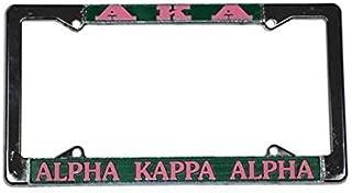 Alpha Kappa Alpha Sorority Silver License Plate