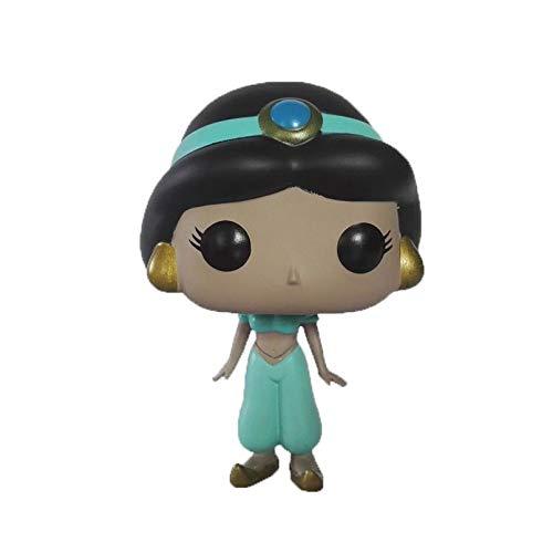 WDXFD Aladino y la lámpara mágica Pop Figura 2.019 Año # 384 de la Serie del Animado Jasmine Figura de PVC de 10 cm en Caja Estatua