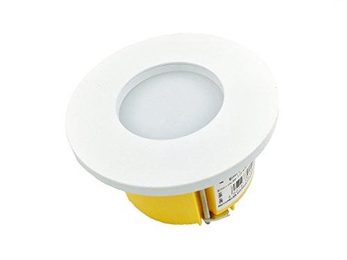 3w LED Wandleuchte von LED24.cc dimmbar, Einbauleuchte für 60mm ISO Unterputzdose Leuchte/Hohlwanddose Stiegenbeleuchtung Unterputz Deckenleuchte Lampe (Weiss)