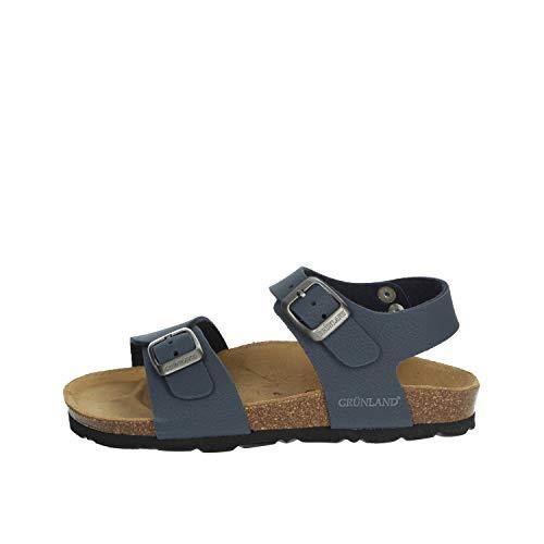 GRUNLAND Sandalo Bambino Blu Sb0901-40