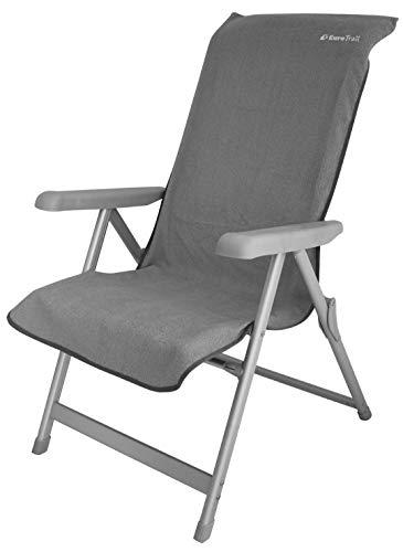 Eurotrail Housse de chaise de camping en tissu éponge Gris 182 x 58 cm