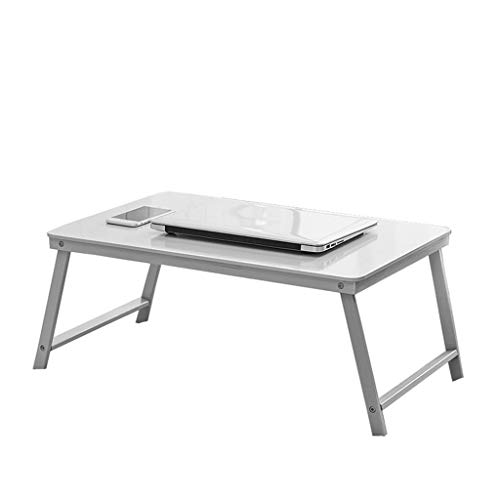 Bureaumeubel LiuJF klaptafel, nachtkastje student kind educatief bureau laptop tafel kleine salontafel meerkleurige bamboetafel verdikte plaat 60 * 39 * 27CM roze