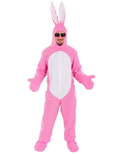 Hase rosa offen Einheitsgrösse XXXL - XXXXL Super Size-Kostüm Fasching Fastnacht für Personen bis 2,00 m Grösse