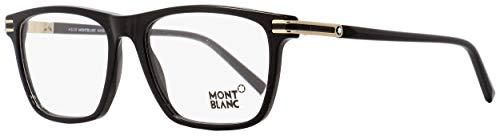 Montblanc Mont Blanc Brillengestelle Mb0710 Monturas de gafas, Negro (Schwarz), 56.0 para Hombre