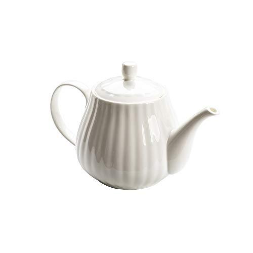 LRHD Hueso de Hogares café de la Porcelana Olla Tetera de cerámica Flor de la Tetera Tetera de la Porcelana con Filtro, 1000ml Grande Tetera de la Porcelana con Tapa, la porción de la Tetera, White